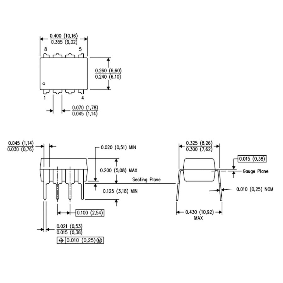 LM1881 Video Sync Ayıracı Entegresi Dip8