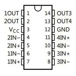 LM239AN Diferansiyel Komparatör Entegresi PDIP-14 - Thumbnail