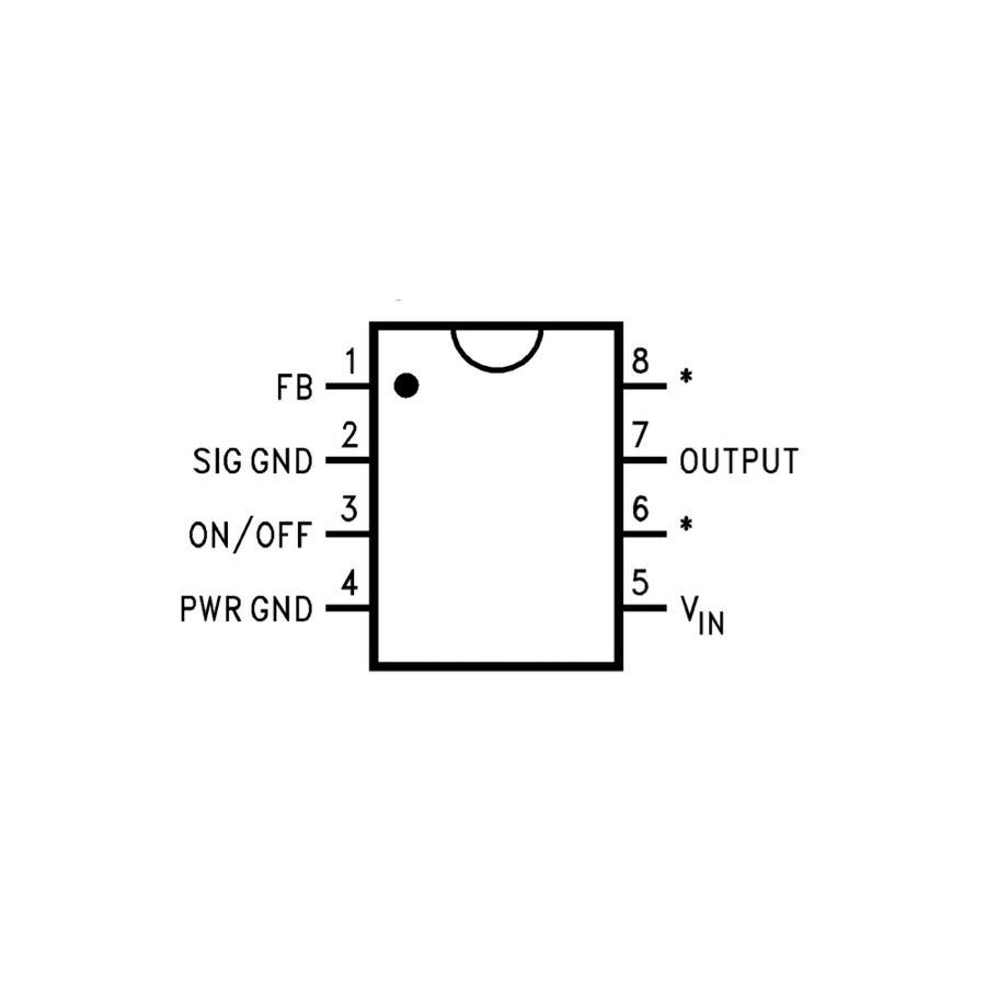 LM2574N-5V Voltaj Regülatör Entegresi 0.5A
