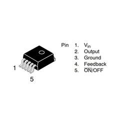 LM2575HVS ADJ SMD Regülatör - Ayarlanabilir - Thumbnail