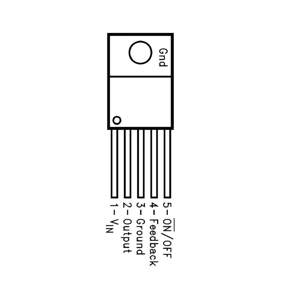 LM2575HVT 12V Voltaj Regülatörü - TO220-5 1A
