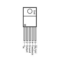 LM2575T 1A Ayarlanabilir Voltaj Regülatörü - TO-220-5 - Thumbnail