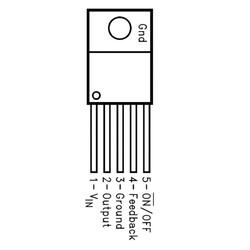 LM2575T 3.3V 1A Voltaj Regülatörü To220-5 - Thumbnail