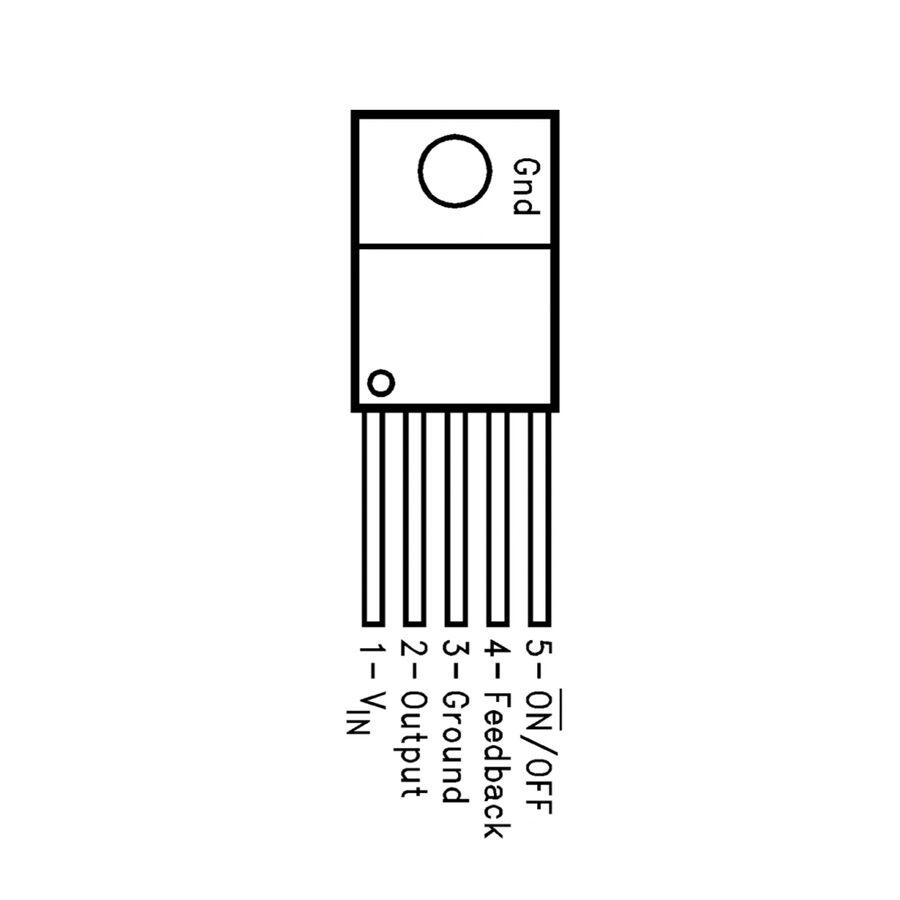 LM2575T Voltaj Regülatörü - TO-220-5 12V 1A