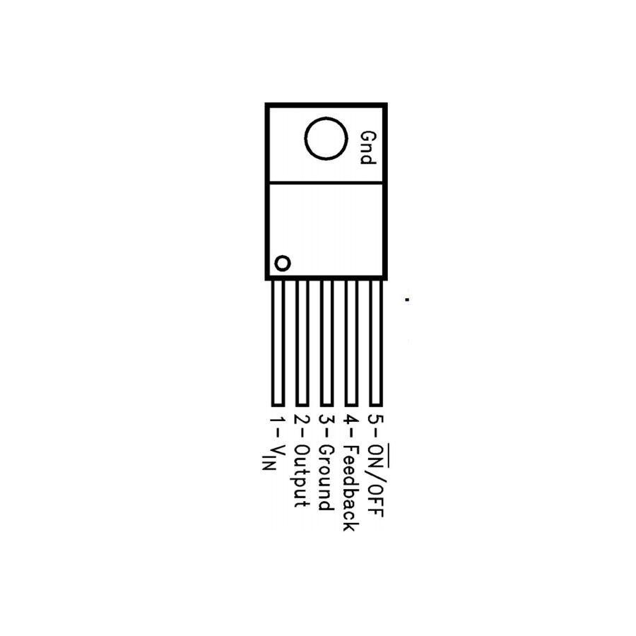 LM2576HVT-ADJ 3A Ayarlanabilir Voltaj Regülatörü - TO-220-5