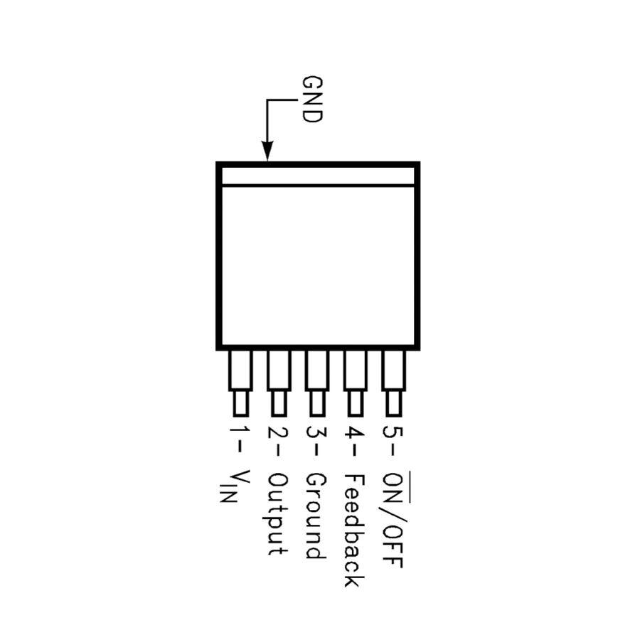 LM2576S-ADJ SMD Regülatör