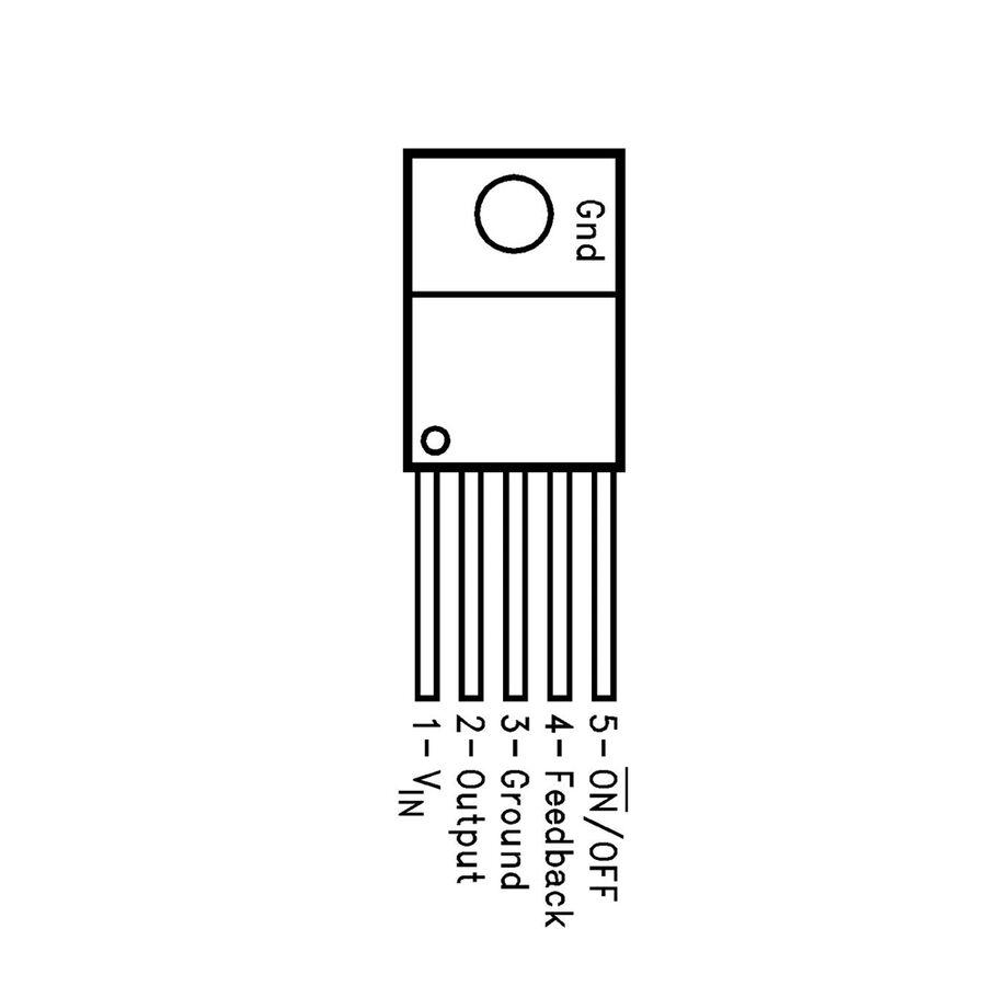 LM2576T-ADJ Ayarlanabilir Voltaj Regülatörü - TO220-5