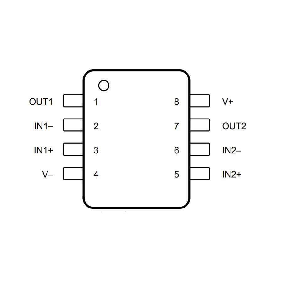 LM258DR SOIC-8 SMD OpAmp Entegresi