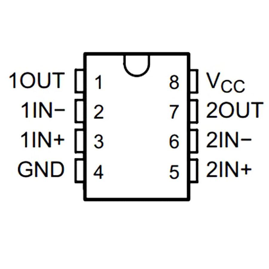 LM258P 3mV 1mA OpAmp Entegresi DIP-8