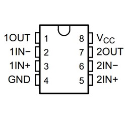 LM258P 3mV 1mA OpAmp Entegresi DIP-8 - Thumbnail