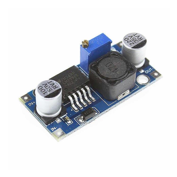 LM2596 Ayarlanabilir Voltaj Düşürücü Güç Modülü (4-35V Giriş - 1-30V Çıkış)
