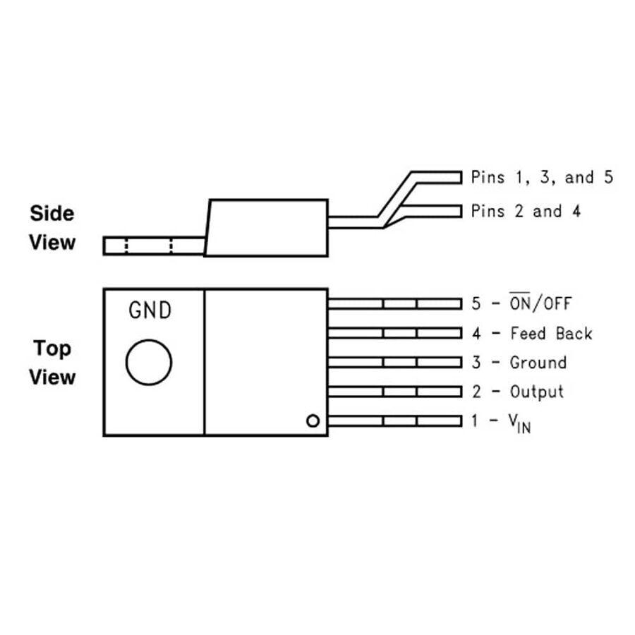LM2596T - 12V Voltaj Regülatörü - TO220-5