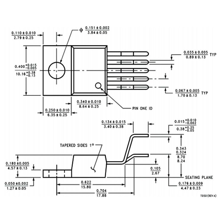 LM2596T 3A 5V Voltaj Regülatör Entegresi To220-5