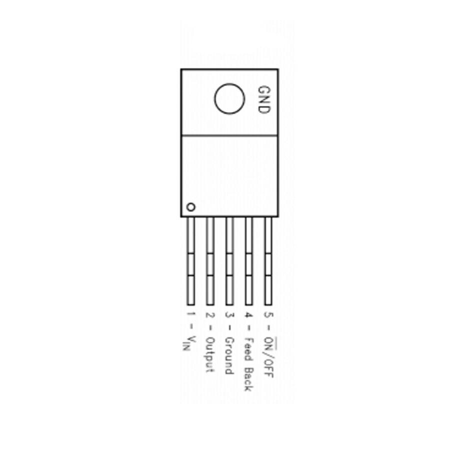 LM2596T-ADJ - Ayarlanabilir Voltaj Regülatörü - TO220-5