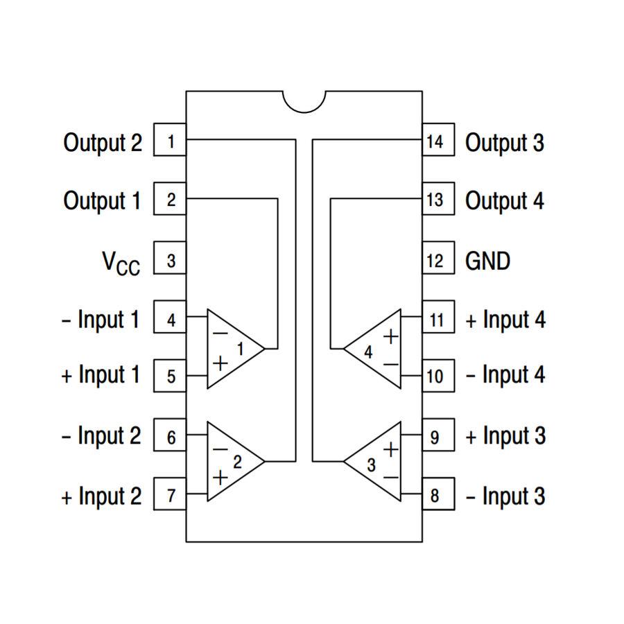 LM2901 SOIC-14 SMD Komparatör Entegresi