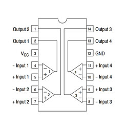 LM2901 SOIC-14 SMD Komparatör Entegresi - Thumbnail