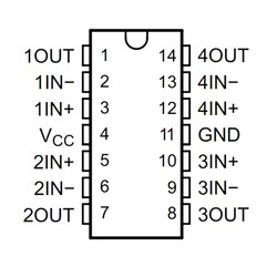 LM2902N Tht OpAmp Entegresi Dip14 - Thumbnail