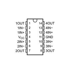 LM2902N-TI Amplifikatör Entegresi Dip14 - Thumbnail