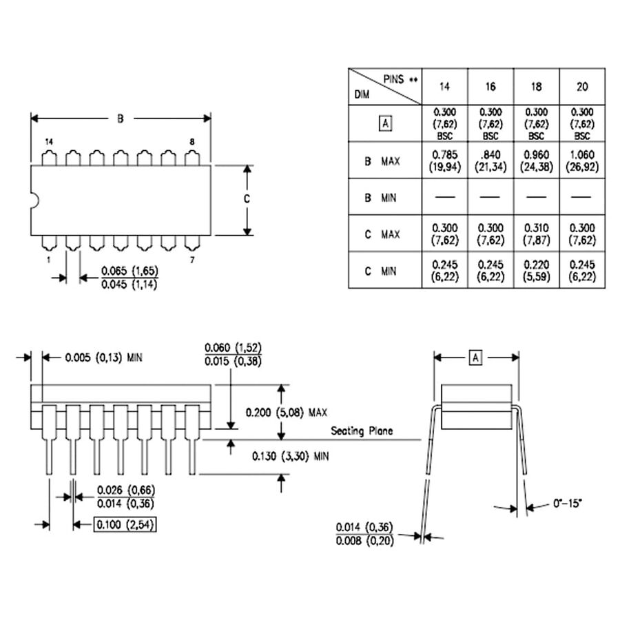 LM2902N-TI Amplifikatör Entegresi Dip14