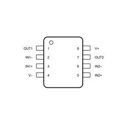 LM2904 SOIC-8 SMD OpAmp Entegresi - Thumbnail