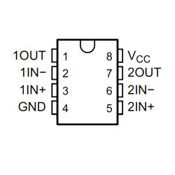 LM2904P OpAmp Entegresi Dip-8 - Thumbnail