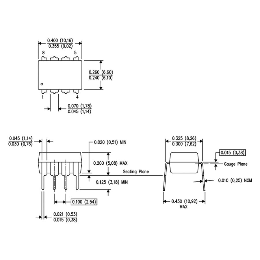LM2907N Voltaj Frekans Çevirici Entegresi Dip-8
