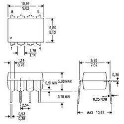 LM293P Komparatör Entegresi PDIP-8 - Thumbnail