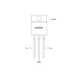 LM2940 12V Voltaj Regülatörü - TO220 - Thumbnail