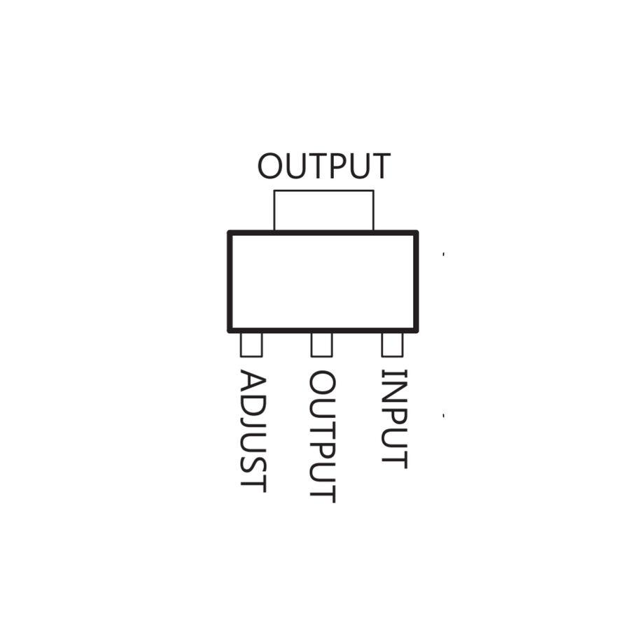 LM317 Doğrusal Voltaj Regülatörü SOT-223 SMD