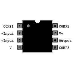 LM318N 5mA OpAmp Entegresi DIP-8 - Thumbnail
