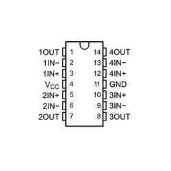 LM324ADR Soic14 - Amplifikatör Entegresi - Thumbnail