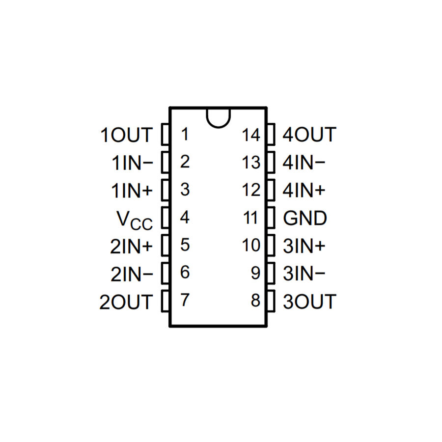 LM324DR2G SMD Soic14 Op-Amp Entegresi