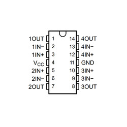 LM324DR2G SMD Soic14 Op-Amp Entegresi - Thumbnail