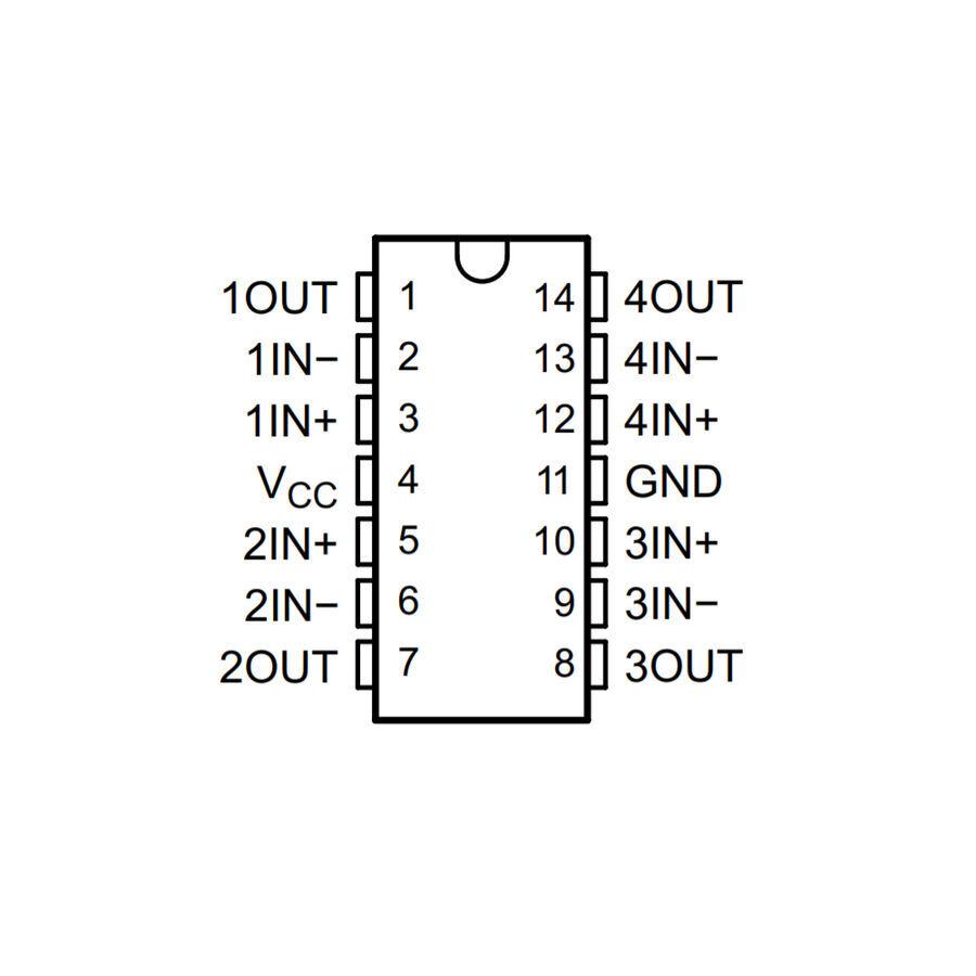 LM324DT SMD Soic14 Op-Amp Entegresi