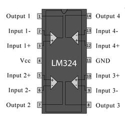 LM324N 5mA 5mV OpAmp Entegresi DIP14 - Thumbnail