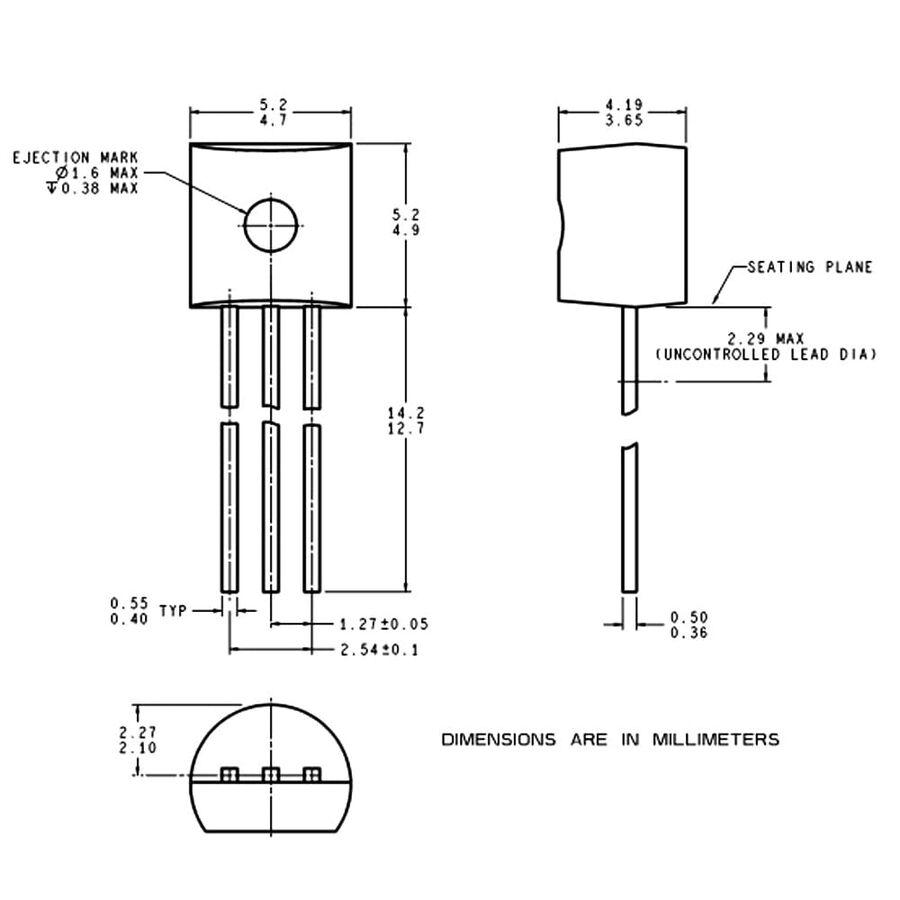 LM335 Hassas Sıcaklık Sensörü Entegresi TO-92