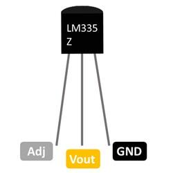 LM335 Hassas Sıcaklık Sensörü Entegresi TO-92 - Thumbnail