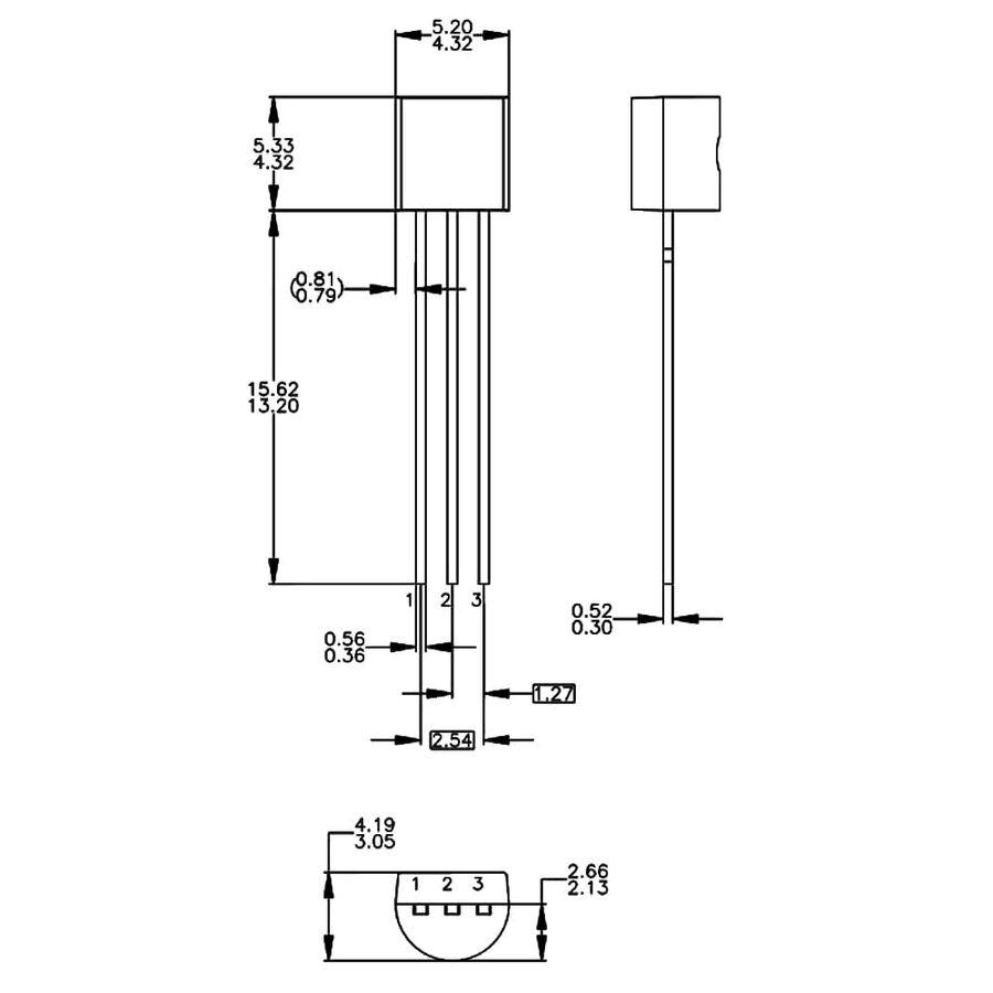 LM336Z25 2.5V 10mA Programlanabilir Şant Regülatörü TO92-3