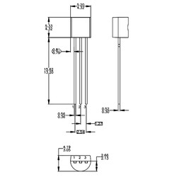 LM336Z25 2.5V 10mA Programlanabilir Şant Regülatörü TO92-3 - Thumbnail