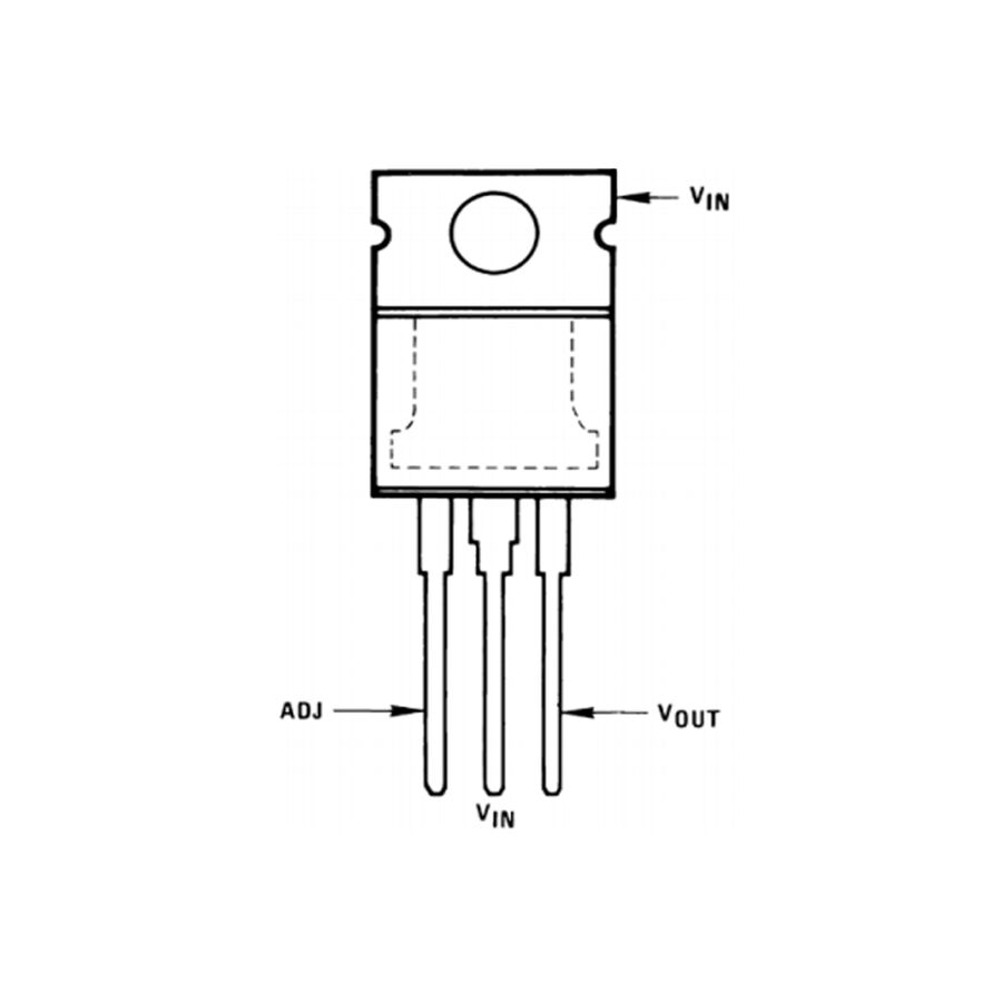 LM337T - Ayarlanabilir Voltaj Regülatörü TO-220