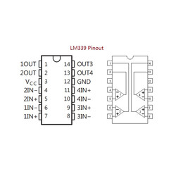 LM339N PDIP-14 DIP Komparatör Entegresi - Thumbnail