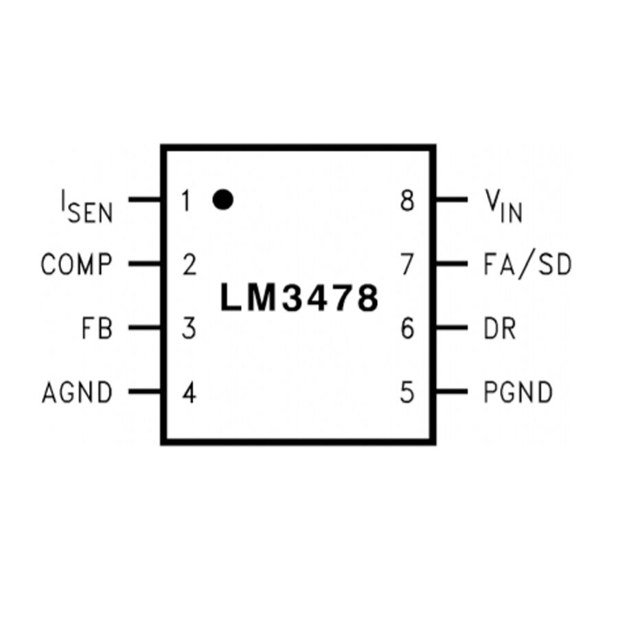 LM3478MM/NOPB TSSOP8 - Kontrol Entegresi