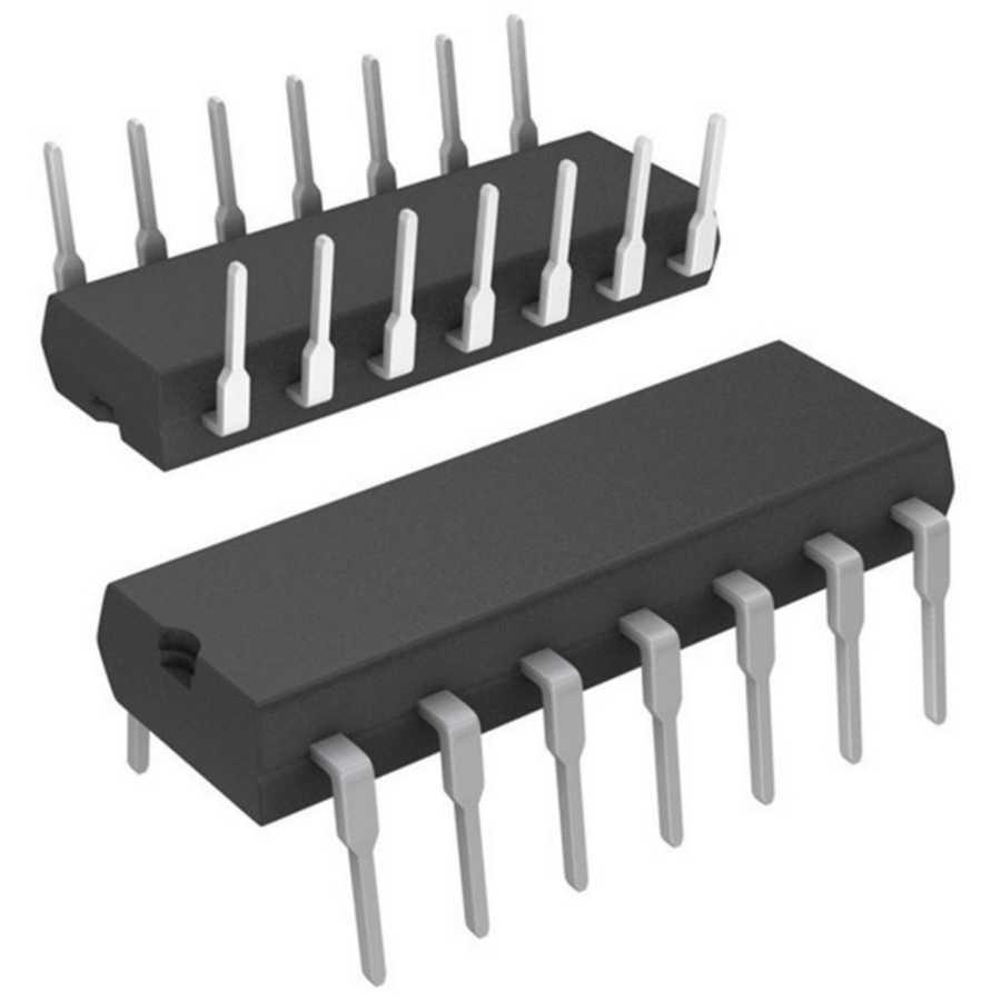 LM348N OpAmp - Dört Kanallı Amplifikatör Entegresi DIP14