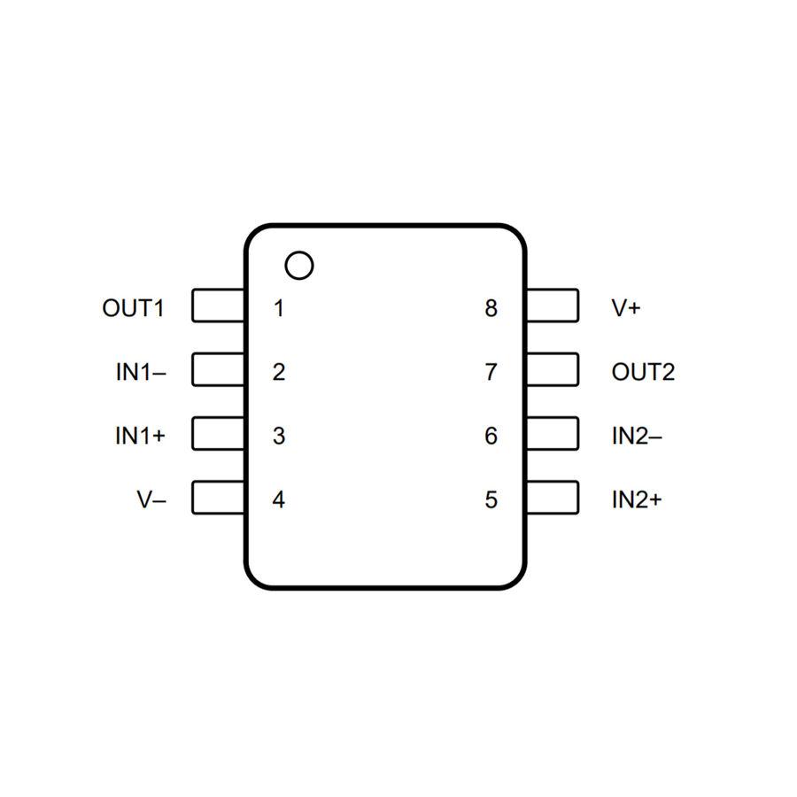 LM358P OpAmp Entegresi DIP-8