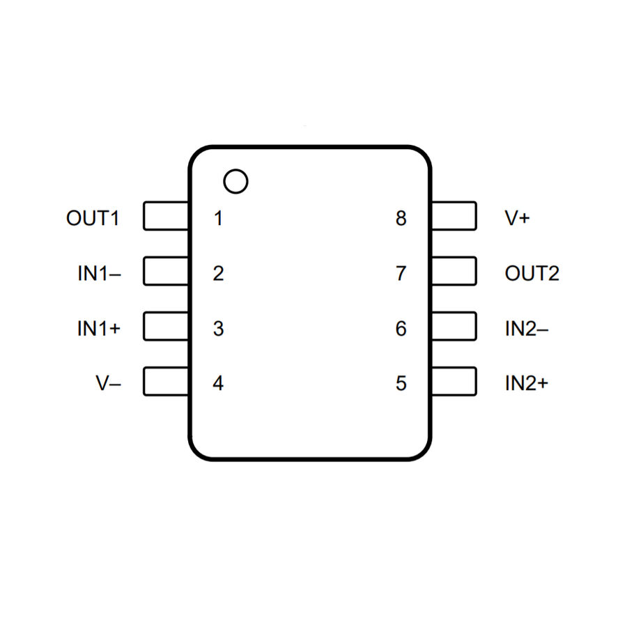 LM358 SOIC-8 SMD OpAmp Entegresi