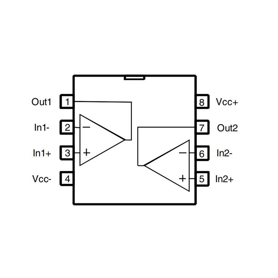 LM358ADT Soic8 - Amplifikatör Entegresi