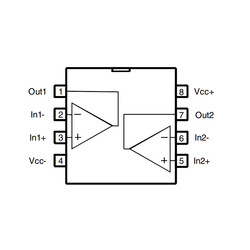 LM358ADT Soic8 - Amplifikatör Entegresi - Thumbnail