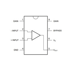 LM386 SOIC-8 SMD Ses Amplifikatörleri Entegresi - Thumbnail