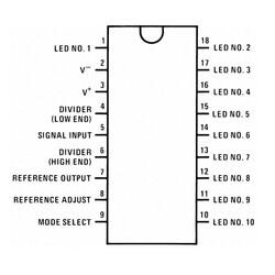 LM3915 Led Sürücü Entegresi Pdip-18 - Thumbnail