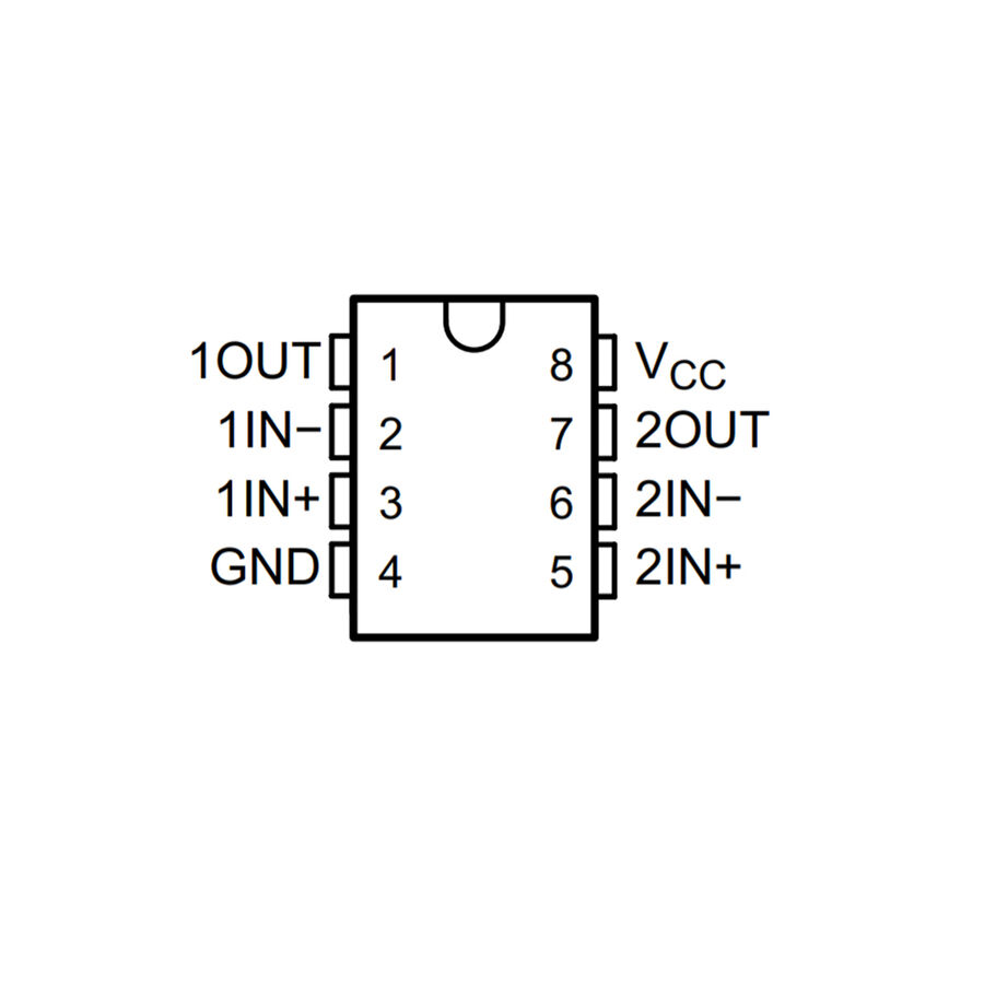 LM393P Komparatör Entegresi PDIP-8